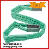 Imbracatura piana 5tx6m della tessitura del poliestere di En1492-1 5t (può essere personalizzato)
