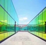Bâtiment de verre à revêtement coloré avec qualité trempé