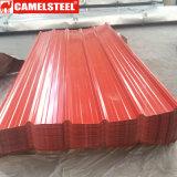 Hoja de acero galvanizada cubierta color del material para techos