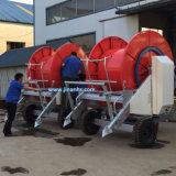 Maquinaria de la irrigación del carrete del manguito con la regadera del arma de la lluvia