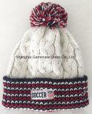 100%Tricot Acrílico Hat com tecidos de etiqueta para Sport Club (HJB111)