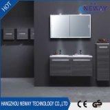 Vanité moderne de salle de bains de double bassin de mélamine de Module de miroir
