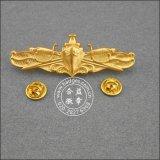 Plaqué or les axes d'organisation, insigne militaire (GZHY-d'un insigne-001)