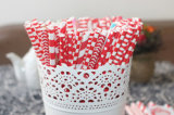 Boda Favor rojo dulce de papel ecológicas Pajas