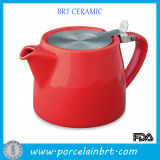 Popular caldo Ceramic Tea Pot con Stainless Steel Infuser