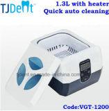 limpieza auto rápida 1.3L con el producto de limpieza de discos ultrasónico dental del calentador (VGT-1200)