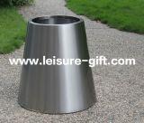 FO-9024 de geborstelde Container van de Pot van het Roestvrij staal Kegel