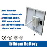 Le réverbère solaire de DEL avec le double arme la batterie au lithium de 12V 30ah