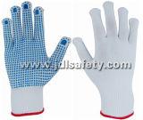 Nylon перчатка с ладонью поставленной точки PVC (S5103-2)