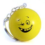 Keychain (BK40-P)를 가진 마스크 Stress Ball