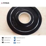 Placa de caucho negro con inserción de hierro fundido