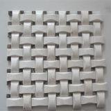 3D Basketweave 패턴 베이지색 색깔 대리석 모자이크 타일