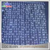 Luz ajustável branca da cortina do diodo emissor de luz da decoração ao ar livre do feriado