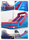 Grande corrediça Bouncy inflável clássica de América