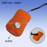 3 LED Dynamo Lampe de poche, torche dynamo (T5095)