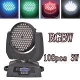 108 3W LED Moving Head RGBW Wash Light