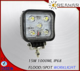 15W 2400LM LED automático de la luz de conducción para el coche, 6000K, IP67, Rhos aprobado CE