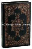 Antigüedades decorativas relieve Vintage de cuero de PU/almacenamiento de madera MDF cuadro Libro