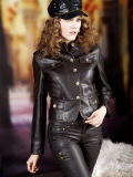 Кожаный Леди куртка (0002)