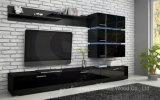 Madera blanca brillante elegante del diseño del gabinete de TV (HF-EY080910)