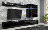 Wooden White Glossy Elegant Design TV Cabinet (HF-EY080910)