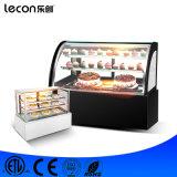 Lebesmittelanschaffung-Geräten-Tisch-Oberseite-Kuchen-Schaukasten-Bildschirmanzeige-Gefriermaschine