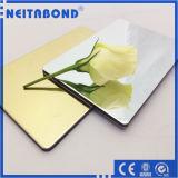 Panneau composé en aluminium de miroir d'or et argenté pour la décoration intérieure et extérieure