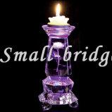 Sostenedor de vela púrpura cristalino (ZT0030)
