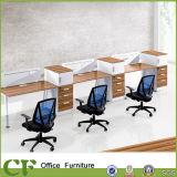 Mobiliário de escritório moderno 6 lugares do compartimento do divisor de estação de trabalho
