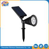 LED IP65 en PVC OEM de lumière solaire de jardin avec un blanc pur