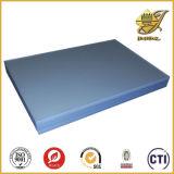 Strato trasparente del PVC con la tinta blu