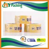 Bande estampée auto-adhésive d'emballage du logo fait sur commande BOPP
