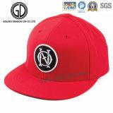 Cool 3D de los hombres de buena calidad de bordado en rojo Snapback Caps