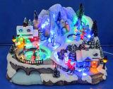 '' Dorf-Szene LED-12 mit Serie gehen durch den Tunnel und die drehende Sankt, acht Liede für Weihnachtsdekoration