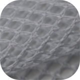 Великолепное цельновывязанное изделие Tricot 100 полиэстер грубый сетчатый материал