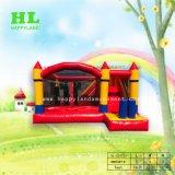 Moda Saltos Insuflável Hot-Selling frio combinadas com deslize e obstáculo para as crianças a emocionante Jumping Sports