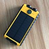 Banco de la energía solar con doble luz y la brújula