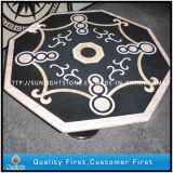 カスタマイズされた装飾的で自然な石造りの大理石のモザイクウォータージェットの床タイル