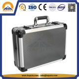 Caja de herramientas de aluminio de la cartera de plata rayada (HT-1052)