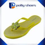 Caduta di vibrazione di gomma pura Alto-Elastica delle donne gialle