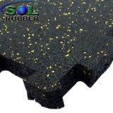 Mattonelle di pavimento di gomma riciclate commerciali di ginnastica dell'interruttore di sicurezza