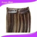 2015 brasiliano Hair Clips Virgin Remy Hair Hair Clip in Human Hair Extensions (CH-003)