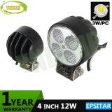 Epistar 12W 4pouce Offroad LED Lampe phare de travail automatique