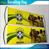 Facendo pubblicità alla bandierina tenuta in mano della bandiera di Scrolling (M-NF35P09005)