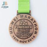 최고 판매 아연 합금 주물 앙티크 청동 사기질 운동경기 메달