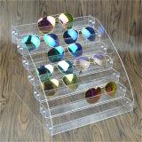Ясный стеллаж для выставки товаров солнечных очков люсита плексигласа