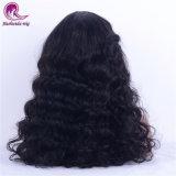 Vendita calda dell'onda del Virgin dei capelli di Volum della parrucca piena spessa indiana profonda del merletto