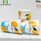 Двойной PE холодный напиток с покрытием печатной бумаги чашка для сока