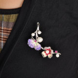 Flor del Árbol de Cristal Esmalte Estrás China Wholesale Brooch