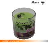 Venda a quente ronda Misturador Tipo Vela Perfumada de vidro com Etiqueta colorida para decoração